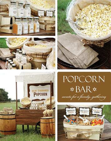 ideas for high school senior grad party menu with popcorn bar